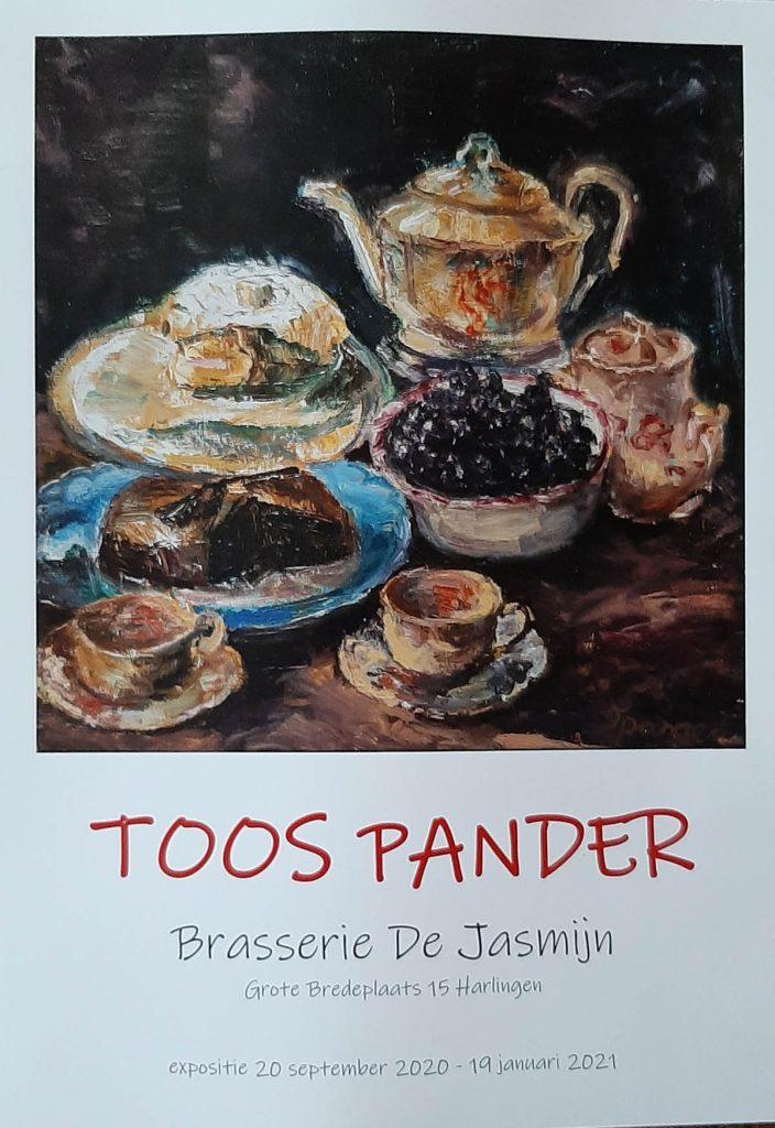 poster expositie Toos Pander in Brasserie de Jasmijn te Harlingen 2020-21
